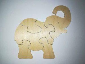 Puzzle - Słoń