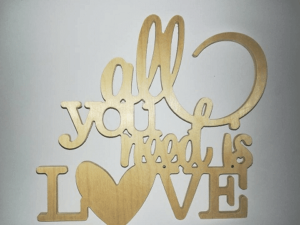 Napis All you need is love