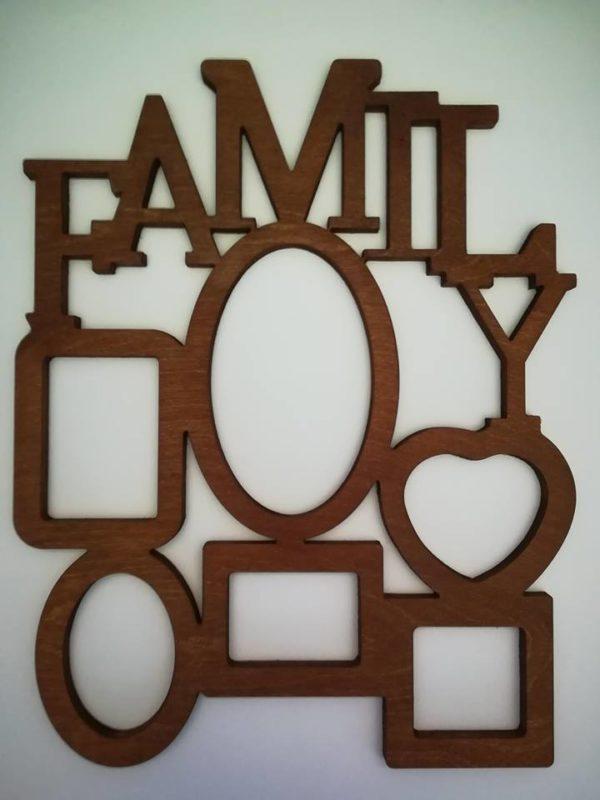 Ramka Family, drewniane ozdoby mieszkania