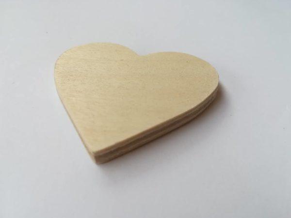 Drewniane serduszka