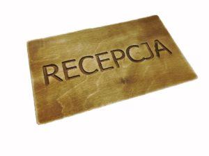 Tabliczka Recepcja