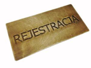 Tabliczka Rejestracja