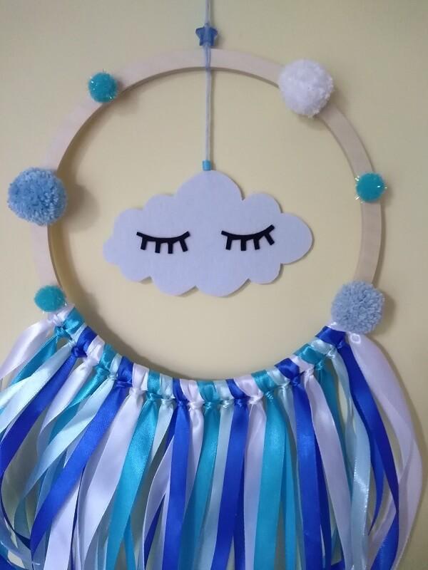 Łapacz snów niebieski z chmurką