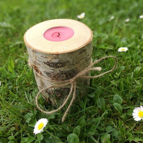 brzozowy świecznik