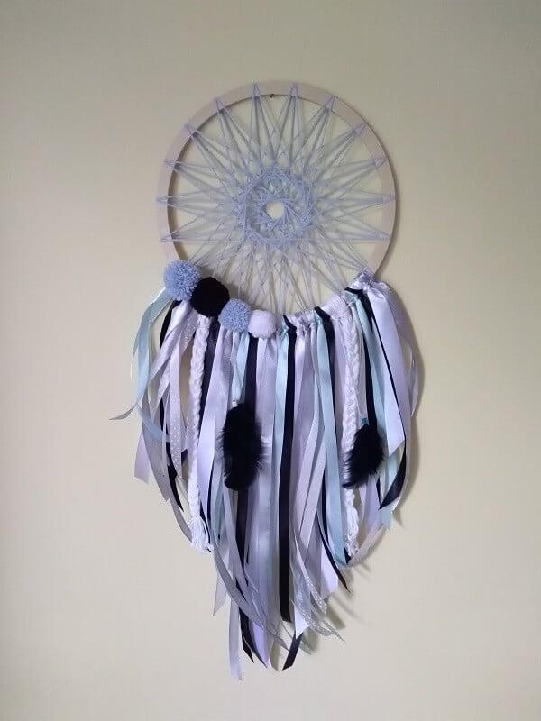 Łapacz snów błękitno-biały