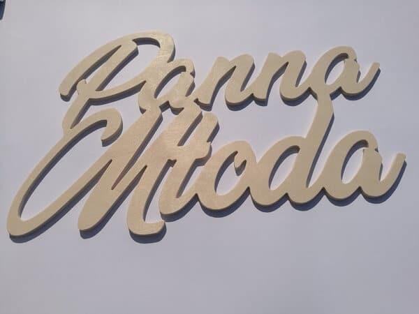 Drewniany napis Panna Młoda