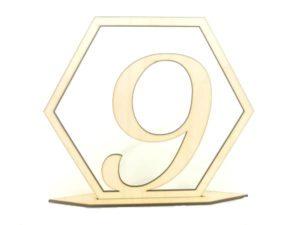 drewniany numer na stół