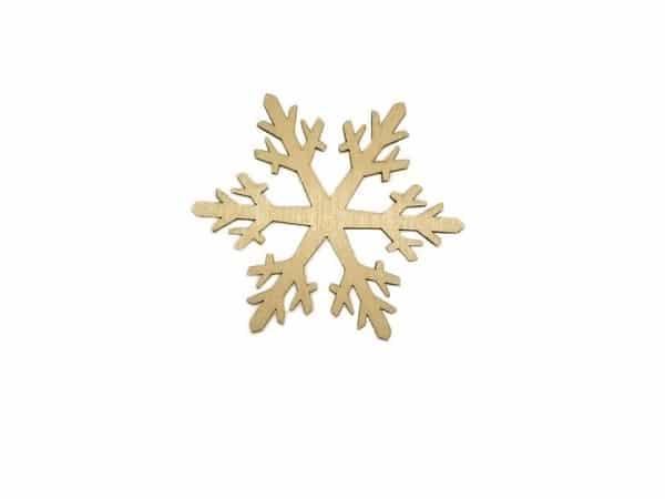 Drewniana śnieżynka