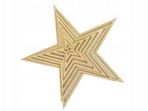 Drewniane gwiazdy